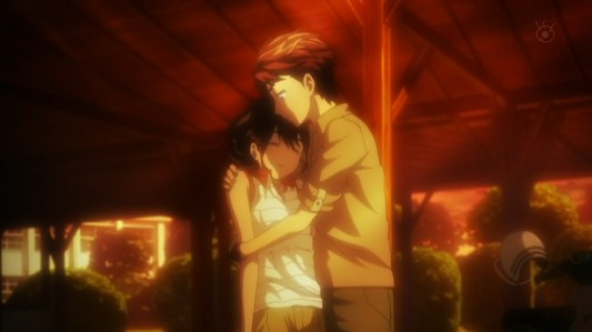 robotics;notes-02-kai-aki-elephant_mouse_syndrome-fainting-romance-sunset-dramatic