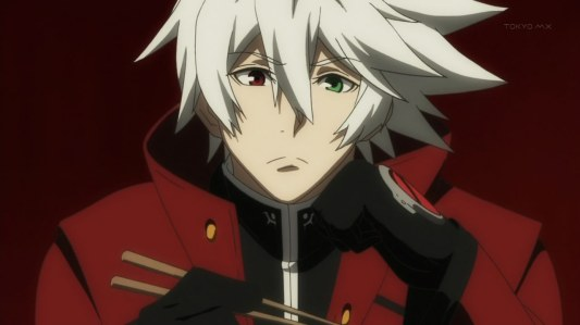 blazblue_alter_memory-01-ragna_the_bloodedge-the_grim_reaper-protagonist-silver_hair-chopsticks-bored