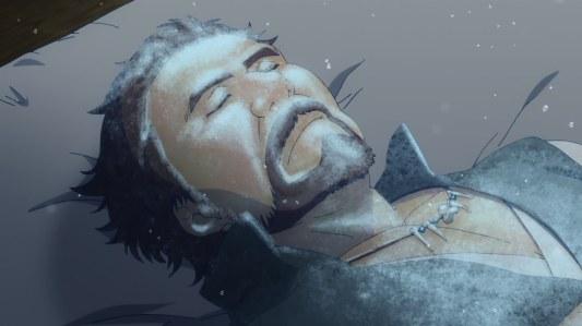 nagi_no_asukara-18-tomoru-father-hibernation-asleep-snow-ice-frozen-beard